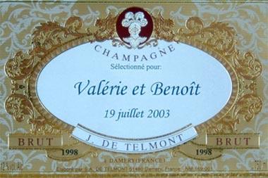 etiquette personnalise de nos champagne - Tiquette Personnalise Champagne Mariage