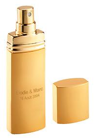 Vaporisateurs Parfum Personnalisés pas cher Doré