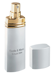 Vaporisateur Parfum Personnalisés gris argent