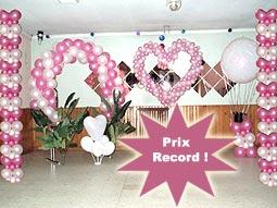 Nos Ballons, banderolles et décorations de salle  Mariage.