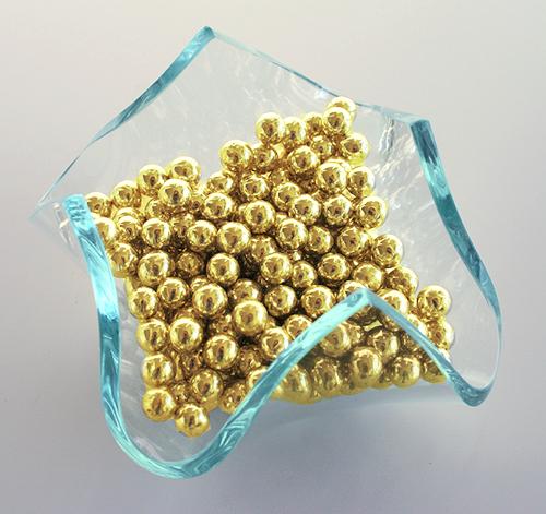 Billes de sucre dorées