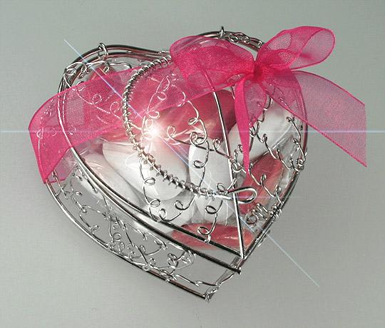 cliquez pour agrandir limage - Contenant Drages Mariage Coeur