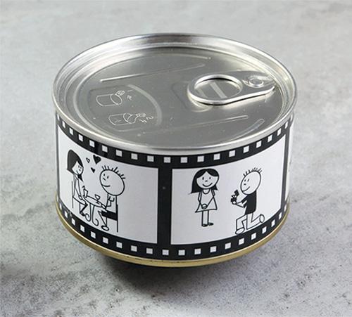 Lot de 12 boites conserve mari s cin ma love story notre collection de boites et - Boite de conserve pour dragees ...