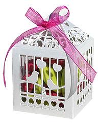 Boite Cage à Oiseau Contenant Dragées