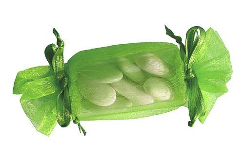 Bonbon Contenant Dragées Vert Anis
