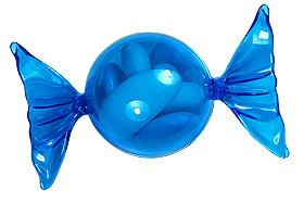 Bonbon Papillotte Pvc Turquoise Contenant Dragées