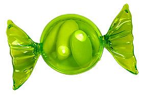 Bonbon Papillotte Pvc Vert Anis Contenant Dragées