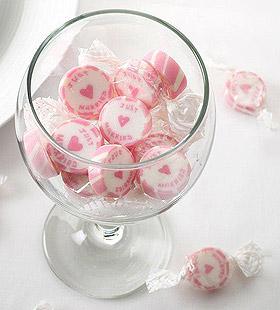 Bonbons Enveloppés Just Married Mariage Rose Blanc