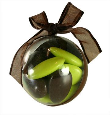 Boules Pvc Chocolat Contenant Dragées