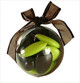 Boule Pvc Couleur 5 cm Chocolat avec Dragées