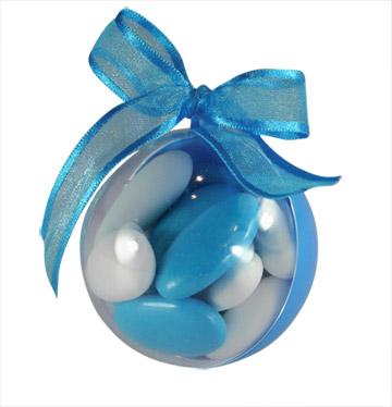 Boules Pvc Turquoise Contenant Dragées