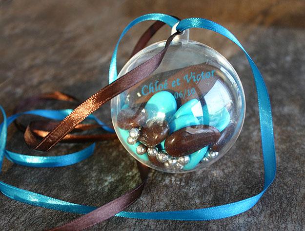 Boules Pvc Translucide Contenant dragées promo