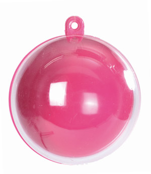 Boules Pvc Rose Contenant Dragées
