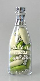 Mini Bouteille Champagne Pvc Contenant dragées
