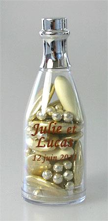 Mini bouteilles de champagne pvc contenant drag es drag es mariage - Ikea bouteille en verre ...