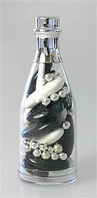 Mini Bouteille Champagne Pvc Contenant dragées noir