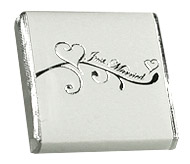 Carrés Chocolat Enveloppés Mariage