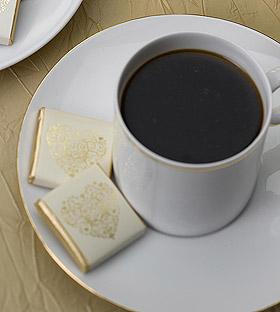 Carrés Chocolat Emballés pour le café