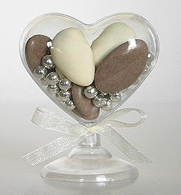 Coeur Contenant Dragées Pvc Transparent