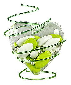 Coeur Pvc Translucide Contenant Dragées original