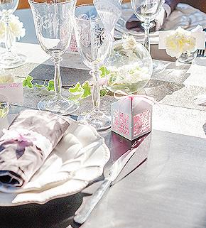 Décoration de Table Mariage blanc et beige