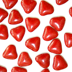 Dragées Petits Coeurs Chocolat Rouge