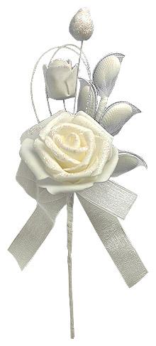 Rose Fleur Raquettes Dragées Ivoire