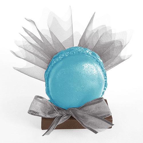 Macaron Pochon dragées turquoise