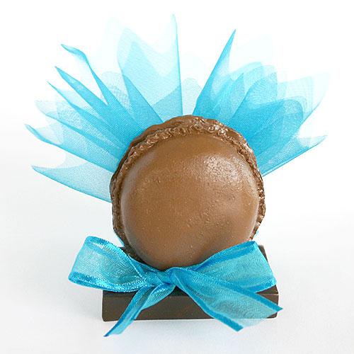 Macaron Pochon dragées chocolat