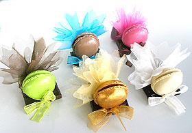 Macarons avec Pochon Organza et dragées