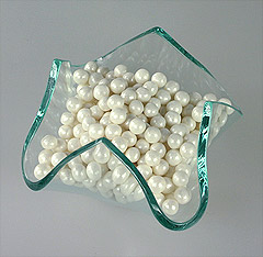 Perles en Sucre Nacrées Blanc