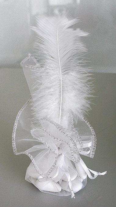 Lot de 10 pochons strass avec plume et drag es notre collection de boites et pr sentations de - Lot de plumes pas cher ...