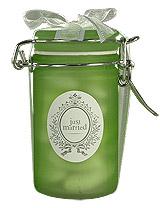 Pot Givré Contenant Dragées Vert Anis