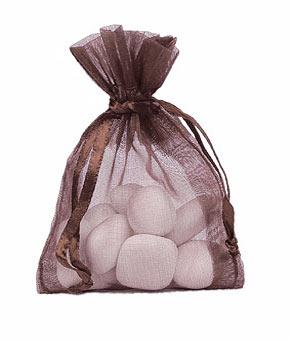 Pochon Organza Grand Modèle Chocolat