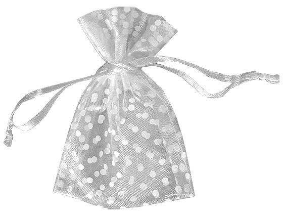 lot de 10 sacs en organdi pois nos contenants pour drag es ou bonbons mariage. Black Bedroom Furniture Sets. Home Design Ideas