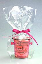 Mini Seaux à Champagne Pvc Contenant dragées fuchsia