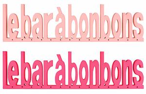 Lettres en Bois Bar à Bonbons Rose