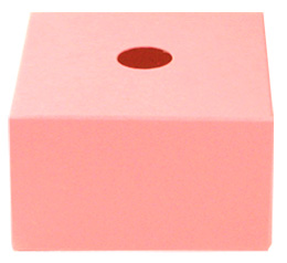 Support Cube Carton Porte Boule rose