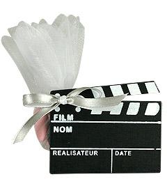 Claps Cinéma Pochon Dragées Noir
