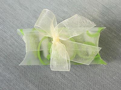 Tube transparent avec dragées