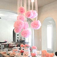 Pompons suspensions