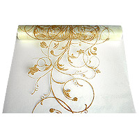Chemin de table arabesques paillettes