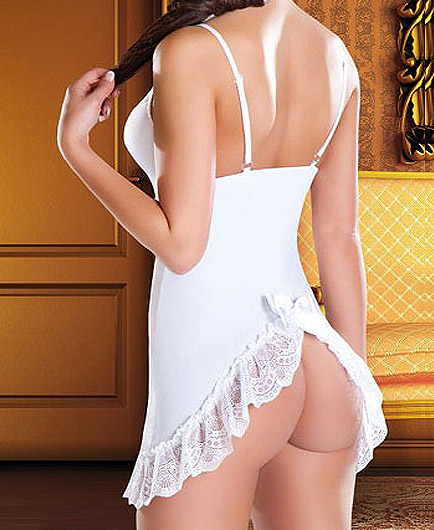Nuisette Mariage Lacets Satin Nuisette Mariage pas cher