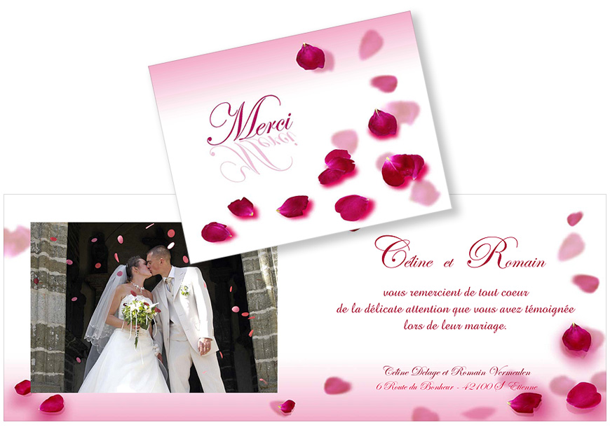 carte de remerciment mariage latest carte mariage sur mesure voyage avion carte postale merci. Black Bedroom Furniture Sets. Home Design Ideas