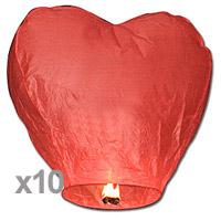Sky Lantern Coeur Rouge Discount x10