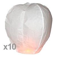 Sky Lanterne Dome Blanc Pas Cher x10