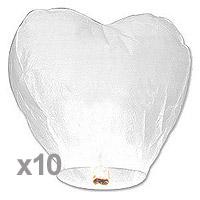 Sky Lantern Coeur Blanc Discount