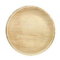 Grande Assiette de Table Ronde Bois Palmier Discount
