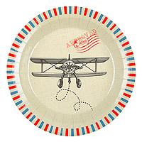 Assiette Avion Voyage en Carton