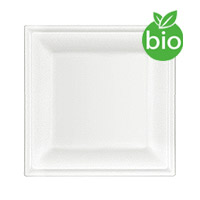 Assiettes Biodégradable Fibre de Canne à Sucre 20cm